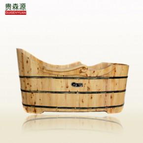 贵森源优质香柏木木桶 泡澡沐浴桶 木质木桶浴缸 尊贵老爷桶