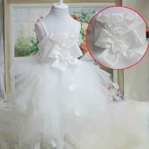 2013 儿童婚纱礼服 儿童演出服  新款童装 蓬蓬花童礼服连衣裙t31