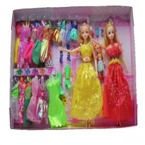 芭比娃娃芭芘巴比礼盒Barbie公主洋娃娃女孩玩具生日礼物-1