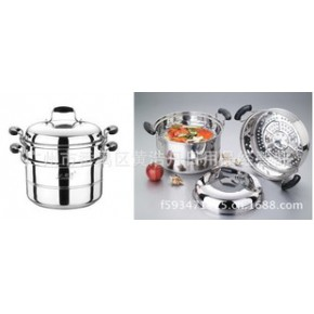 联通蒸锅 无磁复底两层蒸锅 组合盖二层蒸锅 蒸笼锅