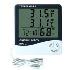 数字温湿度计 电子温湿度计 HTC-2大屏幕数显温度计 带感温探头