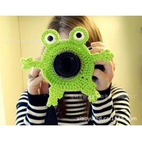 手工编织相机套 手钩摄像机套 让您的相机更个性出众 青蛙款