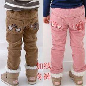爆款童下装韩版童装儿童棉裤加绒加厚天使灯芯绒冬款童裤Z1.8
