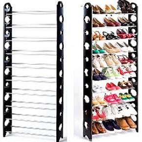 自由组合 组合式简易10层鞋架 带防尘罩十层鞋架 无纺布鞋柜