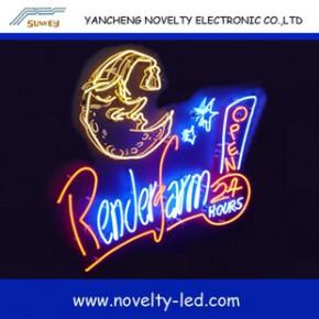2013外贸爆款 8mm粉管霓虹广告牌 霓虹灯 neon sign