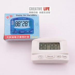 黑色BK-331电子定时器正计时器倒计时器厨房提醒器 闹钟带发音