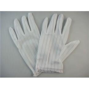 防静电手套/无尘手套/防静电白尼龙手套/防静电条手套