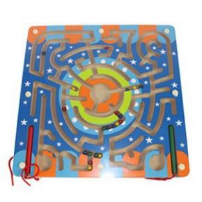 环形轨道磁性迷宫磁性运笔搬运迷宫开发儿童智力玩具滑珠子游戏