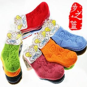袜子批发 秋冬加厚儿童毛巾袜 糖果色童袜批发 毛圈袜 全棉童袜