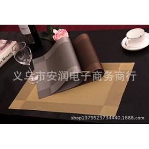 对角相框PVC特斯林西餐垫宜家欧式隔热垫餐桌垫碗垫环保易洗速干