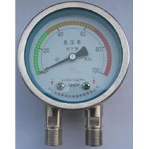 不锈钢差压表上海仪表CYW-150B不锈钢差压表