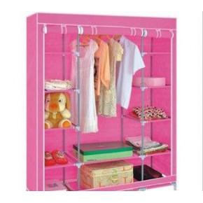 简易无纺布衣柜\新款组合衣柜\超大双人折叠衣柜