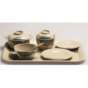 餐厅餐具 美耐皿餐具 喷点味字