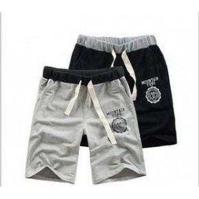2012新款 韩版时尚针织休闲印花短裤 运动裤