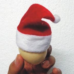 毛绒圣诞帽 无纺布圣诞帽礼品 意真真批发定做加工