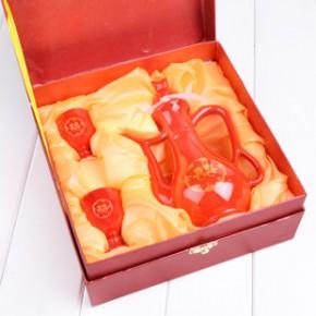 婚庆用品批发 中国红复古龙凤夫妻交杯敬酒杯酒壶套装