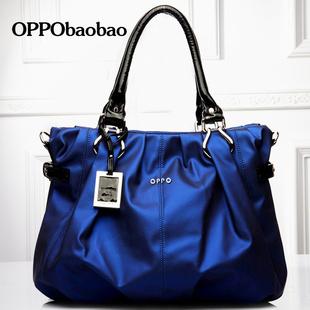 oppo新款包包潮女用包包女款单肩斜跨手提褶皱气质百搭大包包邮-3
