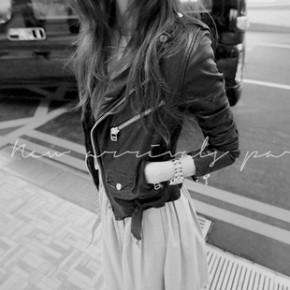 韩版修身短款pu皮衣女短款修身小皮衣机车皮衣女外套皮夹克325