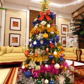 圣诞节礼物豪华加密搭配套餐圣诞树批发 1.5/1.8米pvc饰品装扮树