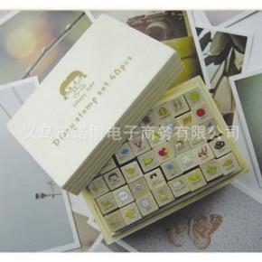 风靡日韩~快乐女孩可爱日记印章 韩国文具 创意图章 (40枚入)