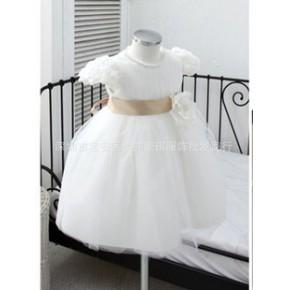 新版高品质儿童婚纱 领口手工钉珠女童婚纱礼服裙 周岁 生日 聚会