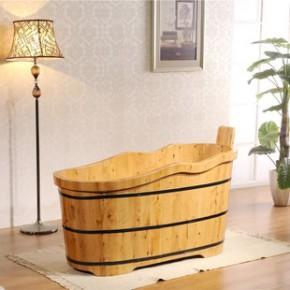 浪边型木桶浴桶 浴缸 超值香柏木沐浴桶小浴室泡澡木桶