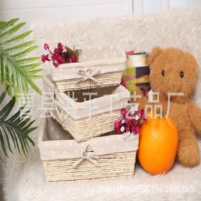 玉米皮手工编织工艺品收纳筐置物篮储物筐超市展示筐展示盘