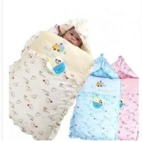 秋冬款纯棉加厚新生儿睡袋 婴儿睡袋抱被抱毯 宝宝用品包被
