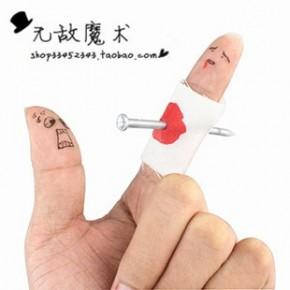 手指釘整蠱玩具 穿指釘搞怪必備 整人恐怖 新奇魔術手指穿釘道具