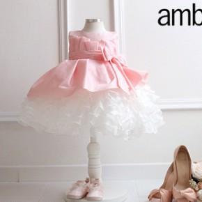 2014新款韩版女童公主裙花童婚纱儿童宝宝周岁礼服秋装批发