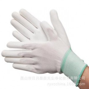 定做十三针尼龙防静电手掌PU涂层手套 手掌涂层手套