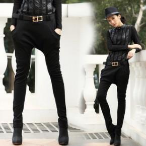 2014新款时尚预售款 欧美风气质潮女时尚哈伦裤(配腰带)