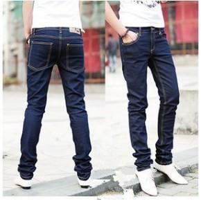 林弯弯 男式牛仔裤 韩版运动裤 修身铅笔裤 男士小脚牛仔裤