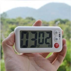 出口日本厨房定时器液晶 倒计时器提醒 磁铁吸附支架放置创意闹钟