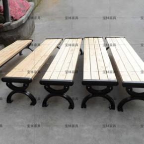 《厂家直销》 公园椅 铸铁脚户外休闲椅广场园林椅子公共排椅