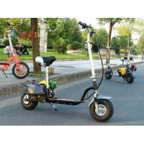 四冲程49cc滑板车小型踏板摩托车个性迷你助力车纯汽油