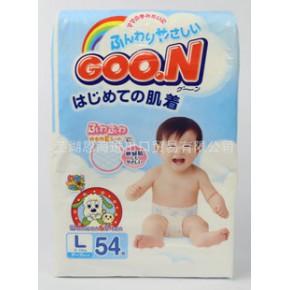 日本进口大王纸尿裤 尿不湿 L54 普通装 54片 GOO.N