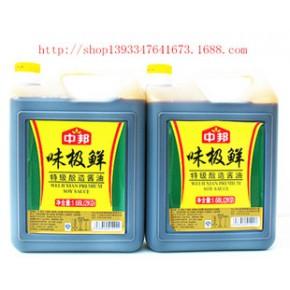 调味品2L*6壶包装中邦味极鲜酱油扁壶装美味调鲜整箱可