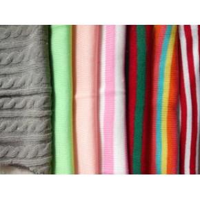 毛线针织面料 提花服装面料 毛线针织布料
