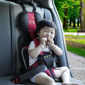 鱼乐圈车载婴童坐椅 便携式儿童安全座椅 汽车安全宝座椅