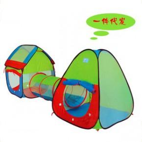 儿童三合一爬行隧道帐篷 宝宝超大过家家游戏屋玩具屋 热销礼物