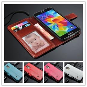 三星GALAXY S5手机套 G9006时尚翻盖手机皮套 支架钱包手机壳