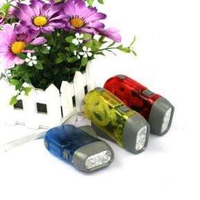 手压三灯手电筒 手压发电灯 塑料手电筒 led手电筒