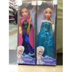 B005动漫周边批发芭比冰雪奇缘冰雪皇后盒装冰雪公主实心芭芘娃娃