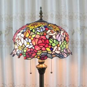 巴洛克欧式复古帝凡尼落地台灯卧室客厅床头落地灯玻璃灯具