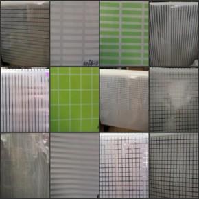 333PVC窗花纸 玻璃纸 磨砂纸 客厅 办公室磨砂条纹,方格贴膜