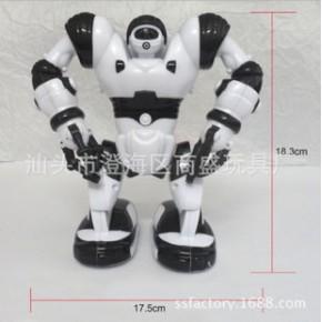 2013新款 迷你电动带灯光 可抓东西智能电动机器人罗本艾特