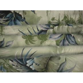 夏威夷度假休闲流行衬衫 绢纺服装印花面料直销一米起卖