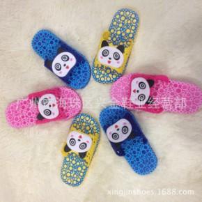2014新款卡通中童大童凉拖鞋 米妮米奇同款居家室内外儿童凉拖鞋
