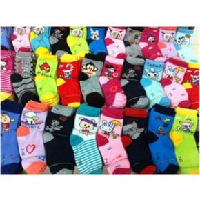 涤棉地摊袜 儿童卡通袜子 宝宝袜子 男女中筒童袜